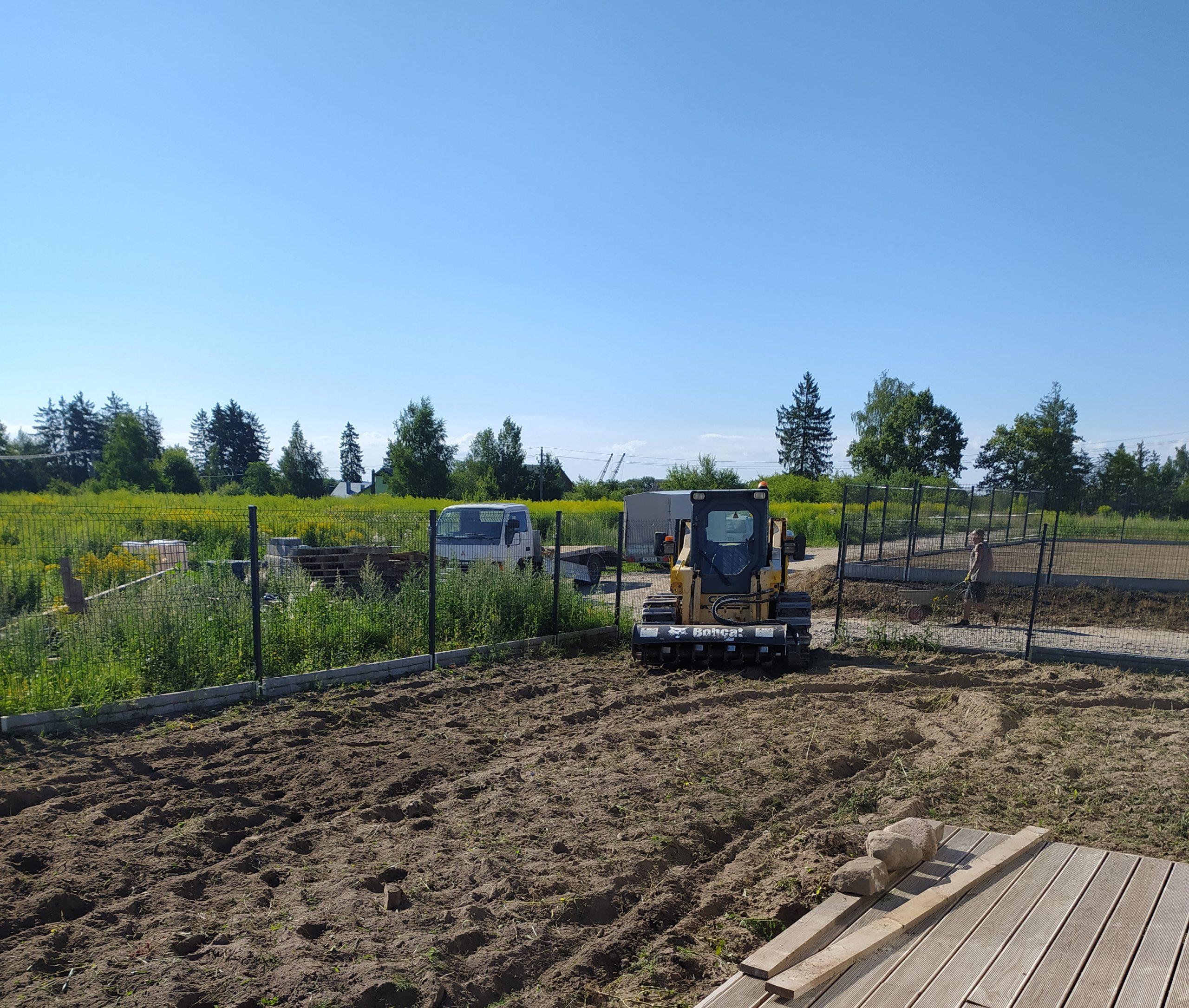 Lauko statyba - Pagrindų paruošimas